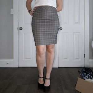 Plaid tight pencil skirt from RW & Co